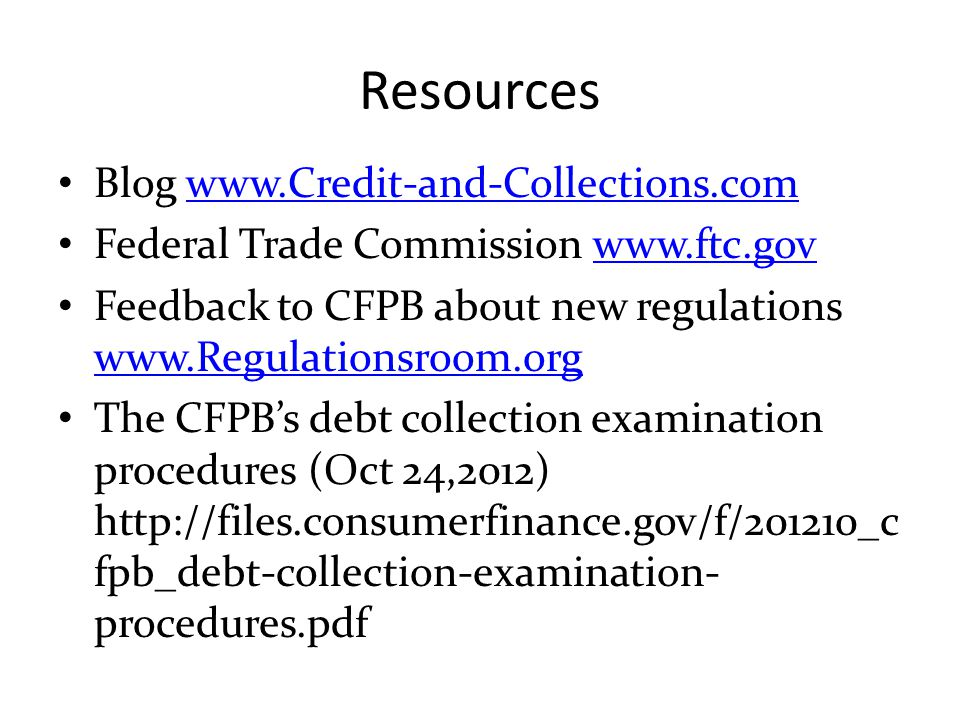 Resources Blog www.Credit-and-Collections.com