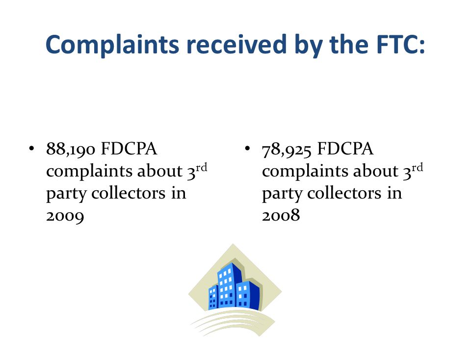 Complaints received by the FTC:
