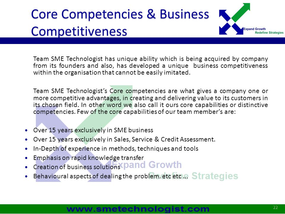 Core Competencies & Business Competitiveness