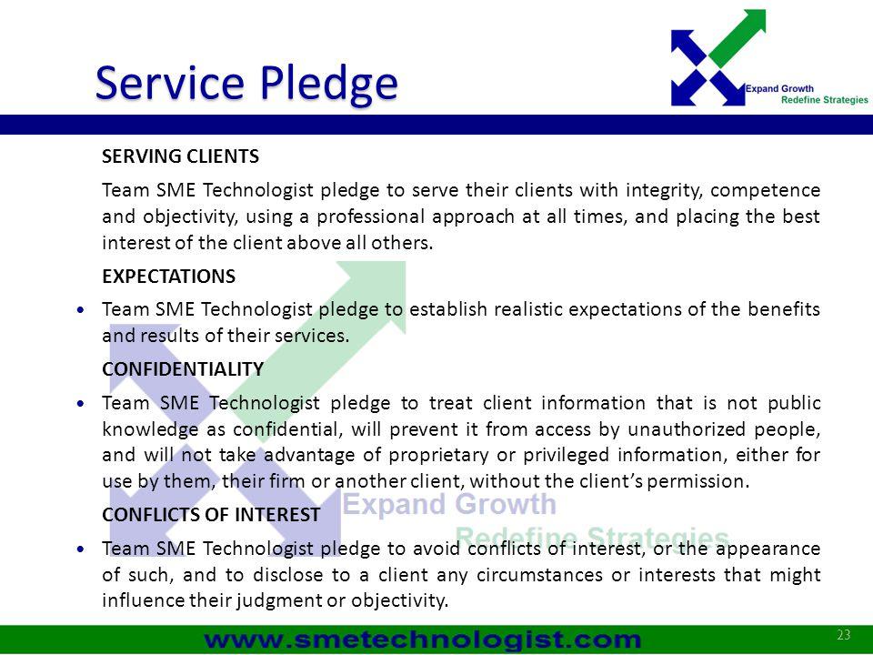 Service Pledge SERVING CLIENTS