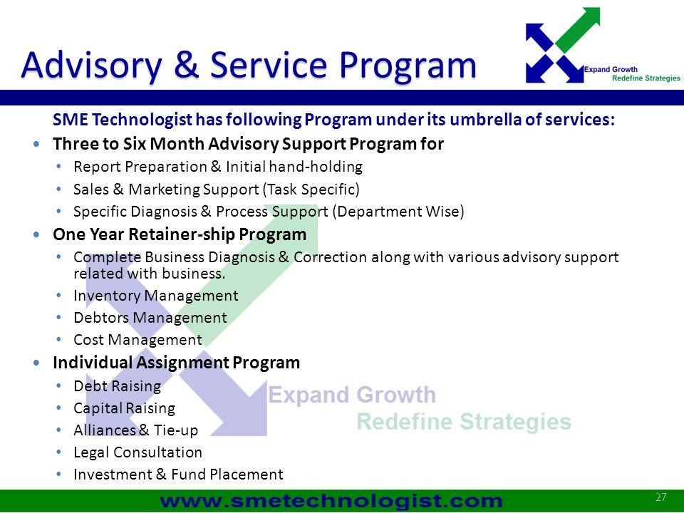 Advisory & Service Program