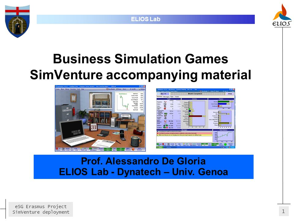 Business Simulation Games SimVenture accompanying material