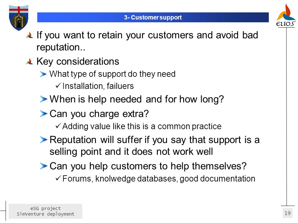 If you want to retain your customers and avoid bad reputation..