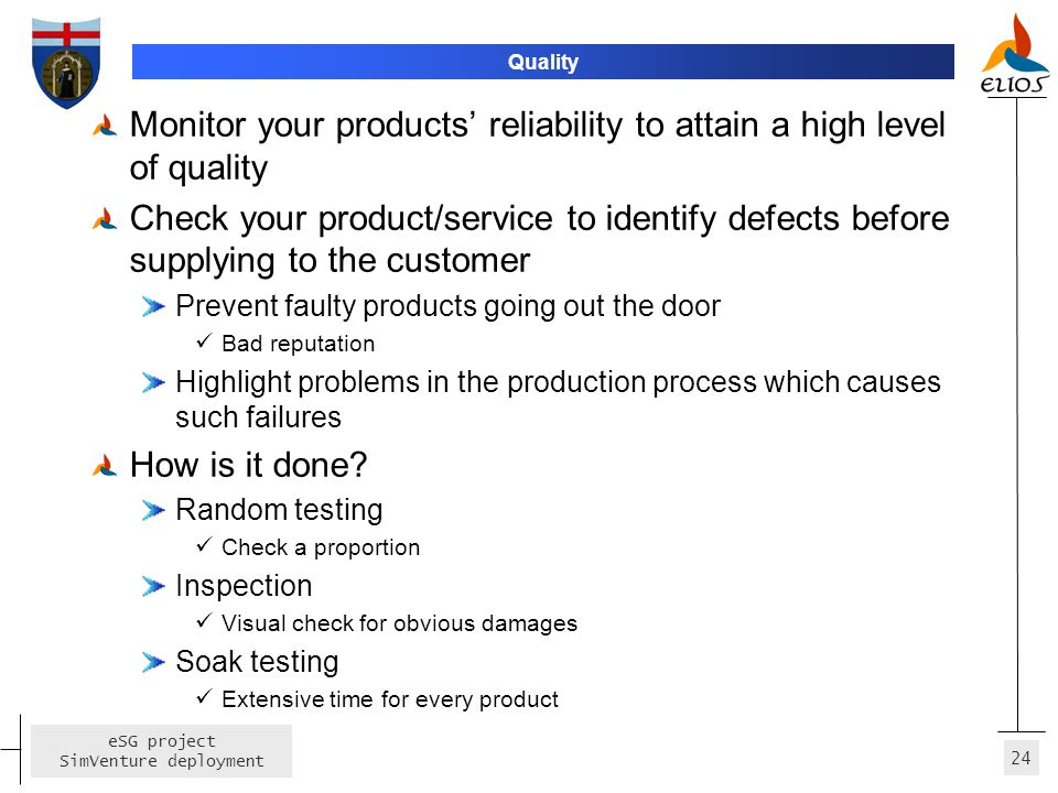 Monitor your products' reliability to attain a high level of quality