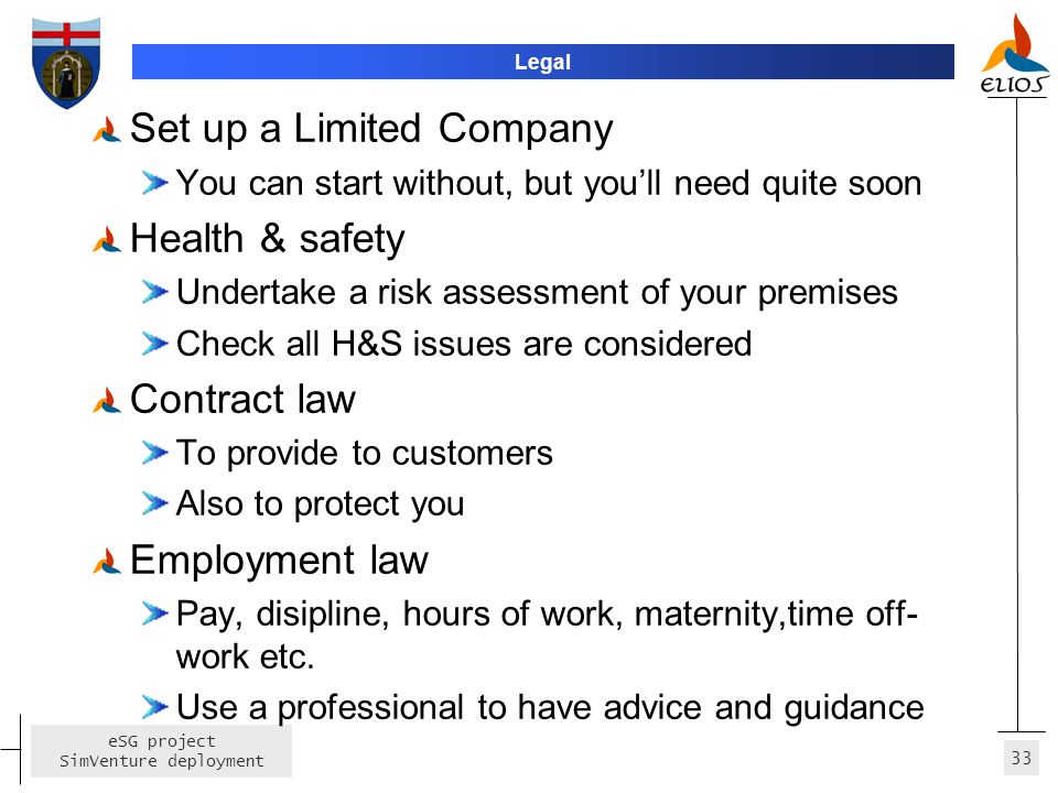 Set up a Limited Company Health & safety