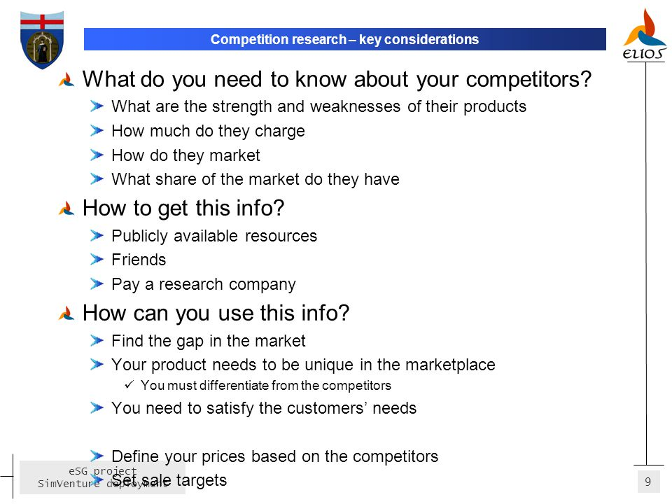 Competition research – key considerations