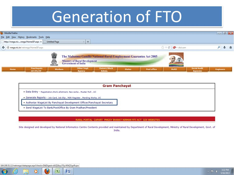 Generation of FTO