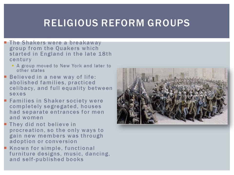 Religious Reform Groups