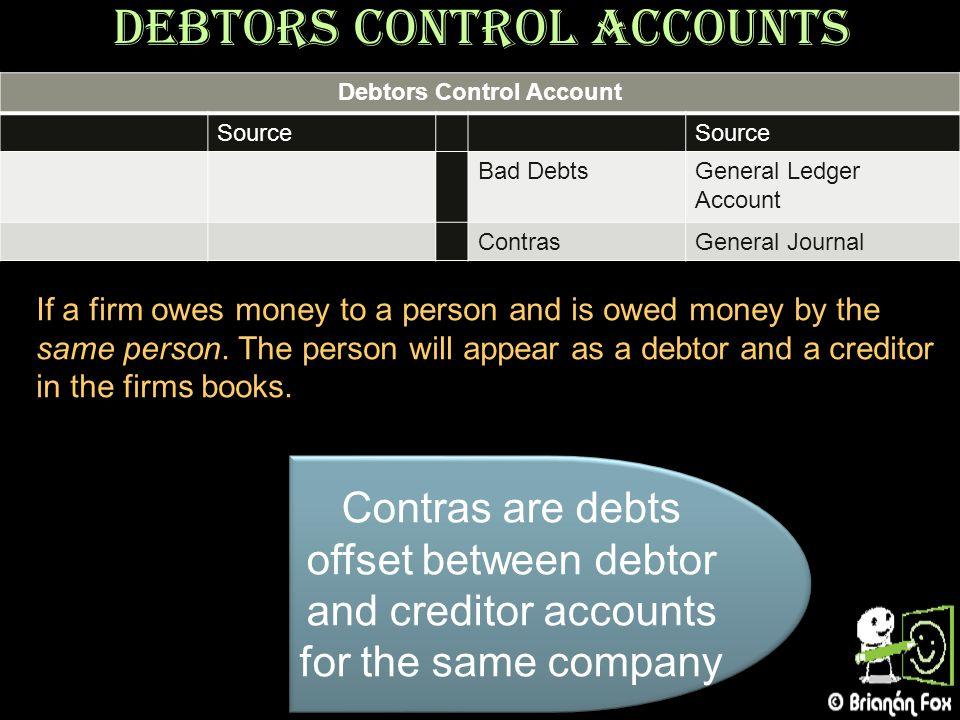 Debtors Control Accounts