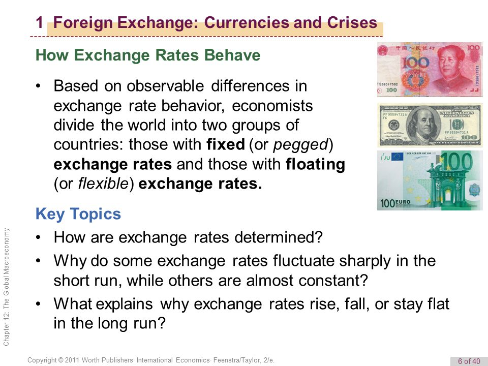 1 Foreign Exchange: Currencies and Crises