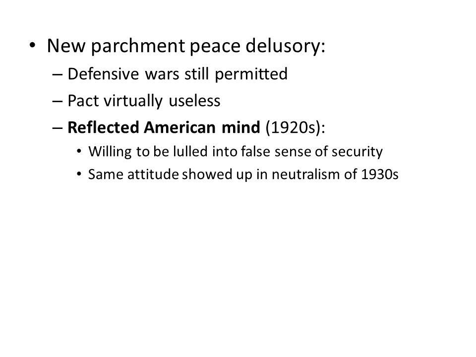 New parchment peace delusory:
