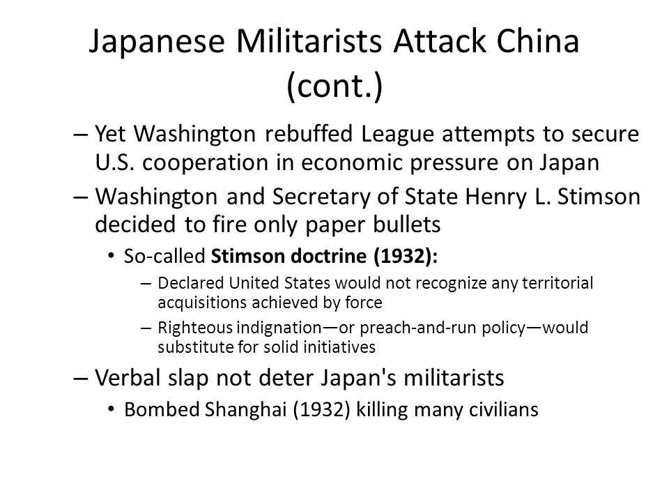 Japanese Militarists Attack China (cont.)