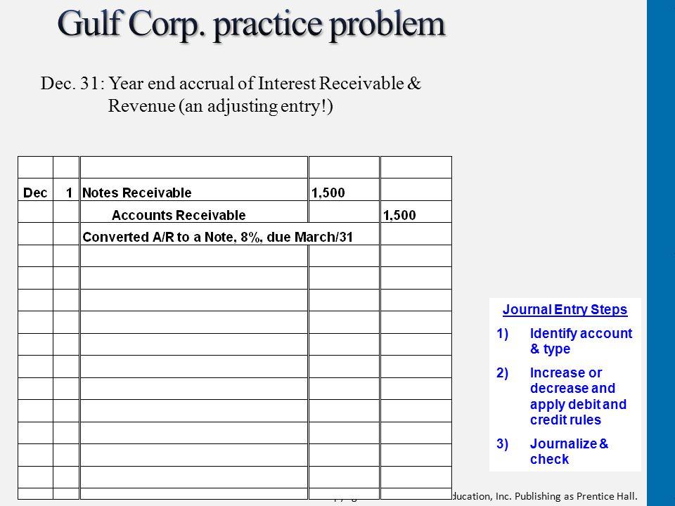 Gulf Corp. practice problem
