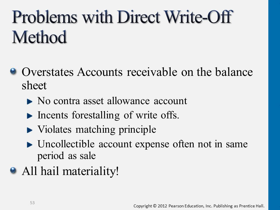 Problems with Direct Write-Off Method