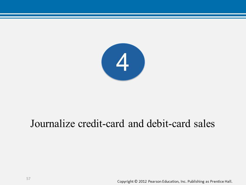 Journalize credit-card and debit-card sales