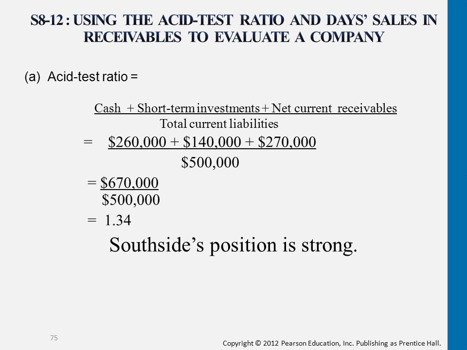 Southside's position is strong.