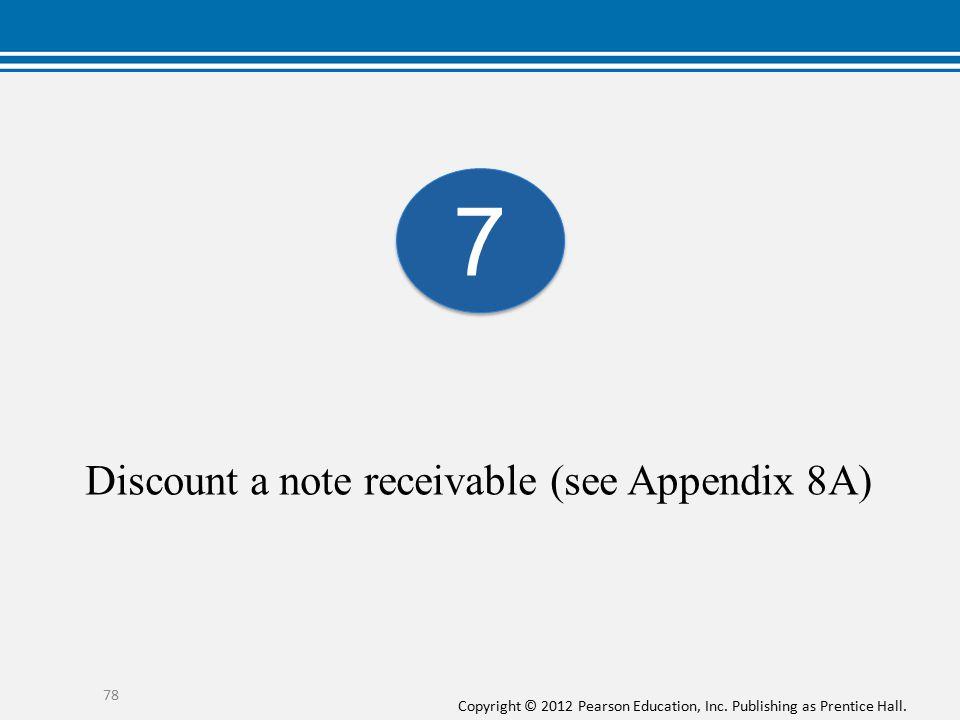 Discount a note receivable (see Appendix 8A)
