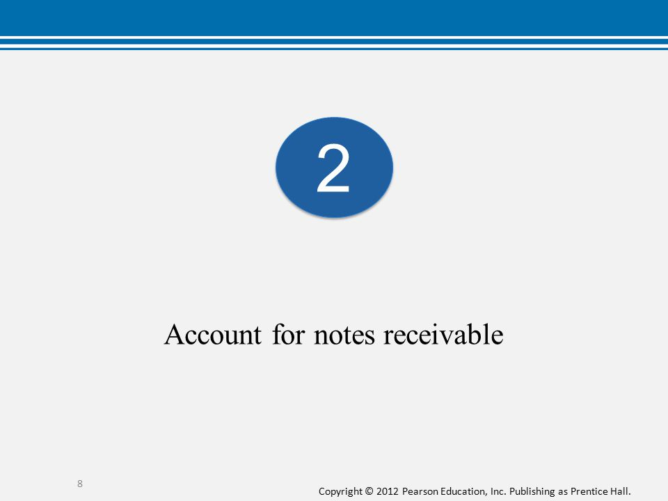 Account for notes receivable