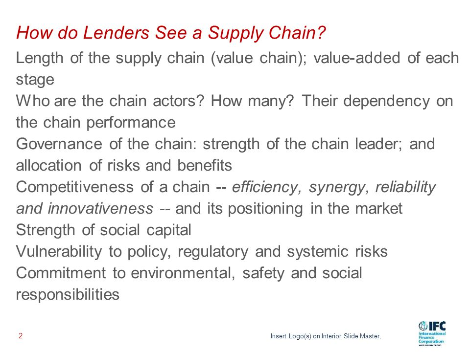 Linkages can be Powerful for Lenders