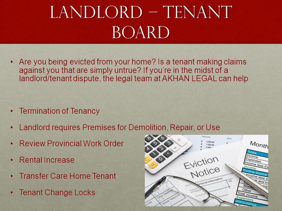 Landlord – tenant board