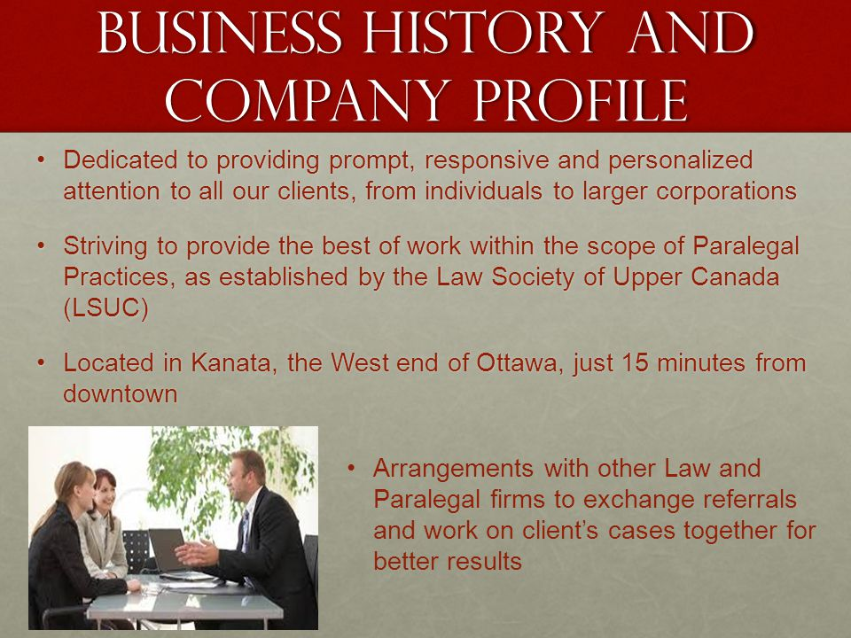 Business history and company profile