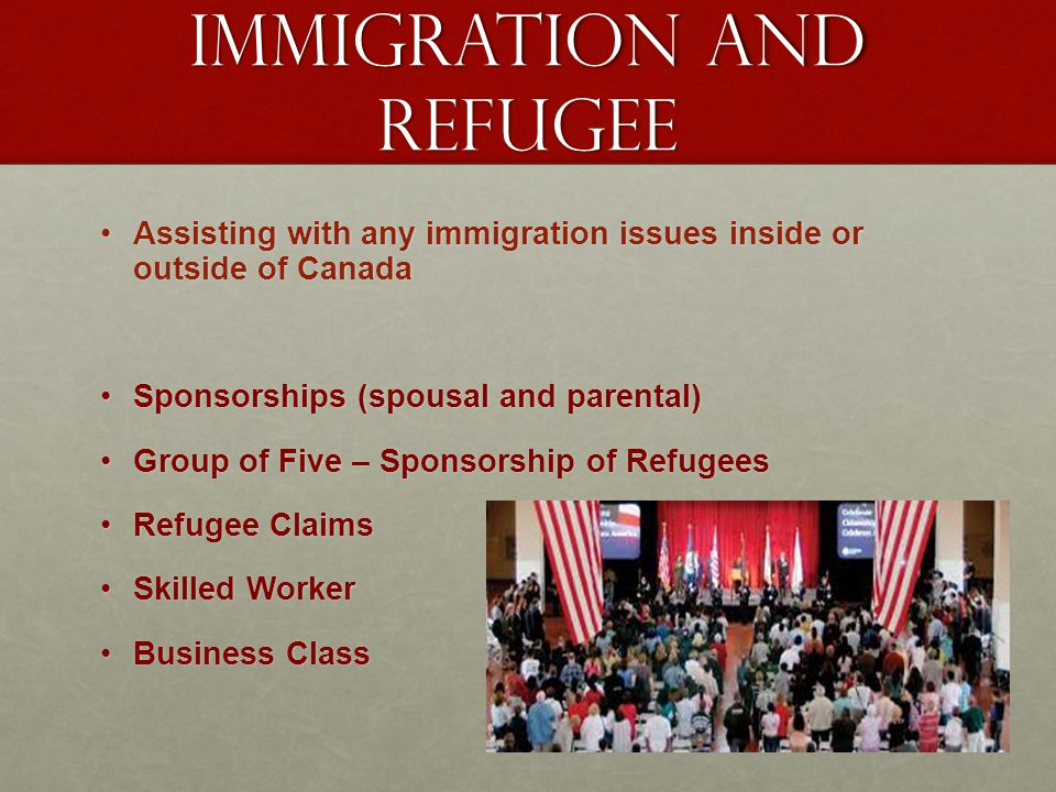 Immigration and refugee