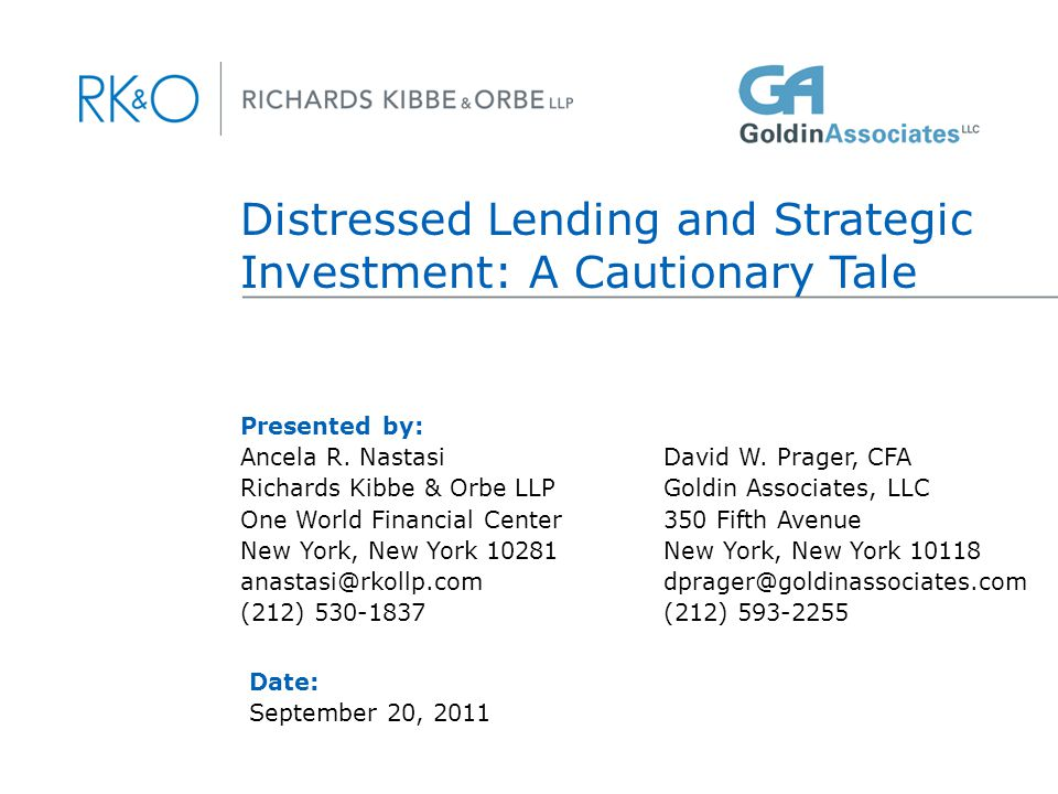 Introduction I. Secured Lenders: Will Your Right to Credit Bid Be Honored In a Cram Down Plan