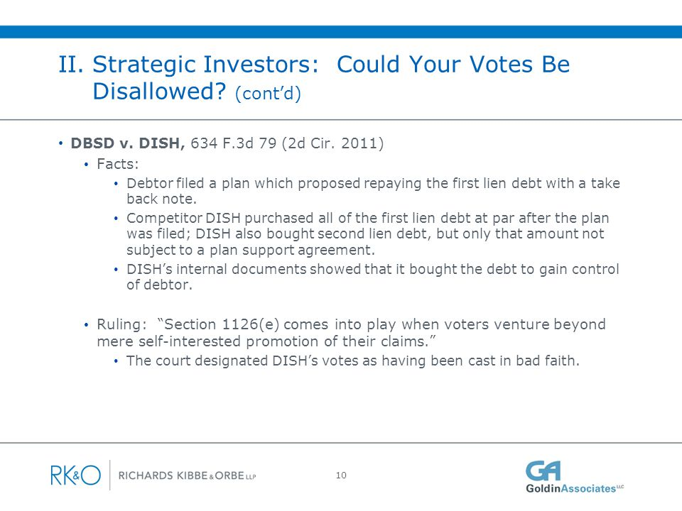 II. Strategic Investors: Could Your Votes Be Disallowed (cont'd)