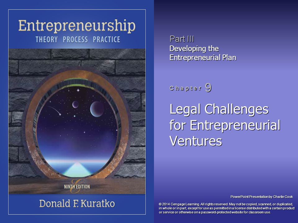 Legal Challenges for Entrepreneurial Ventures