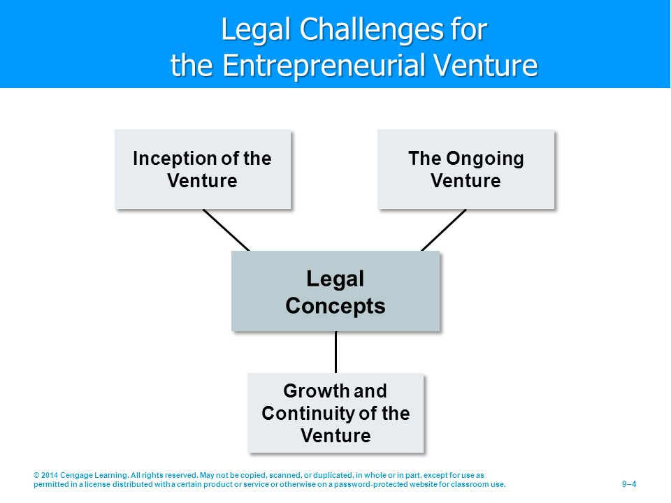 Legal Challenges for the Entrepreneurial Venture
