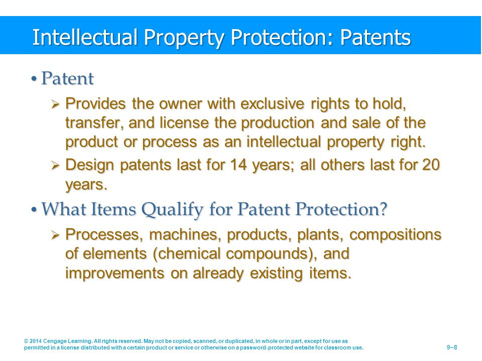 Intellectual Property Protection: Patents