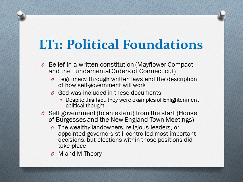 LT1: Political Foundations