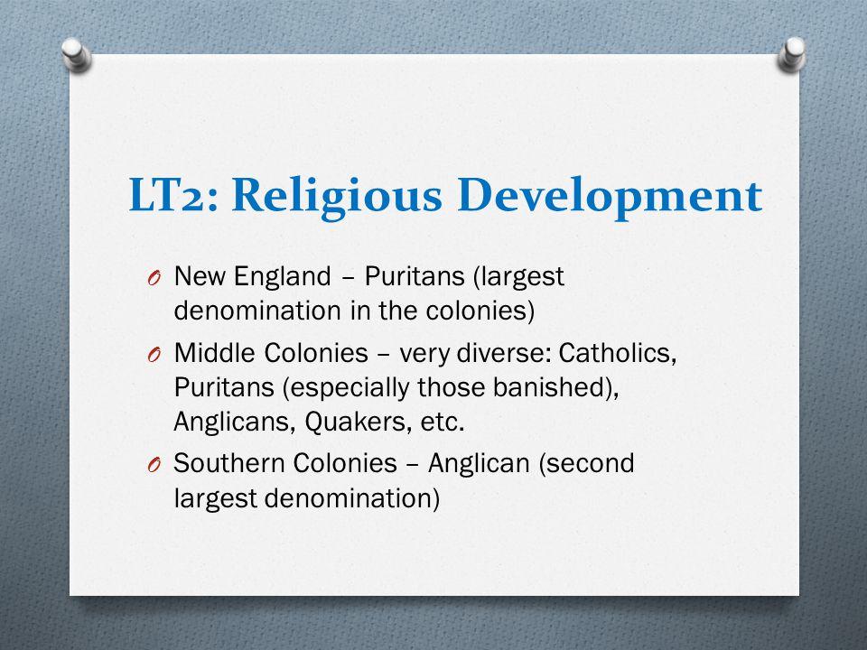 LT2: Religious Development