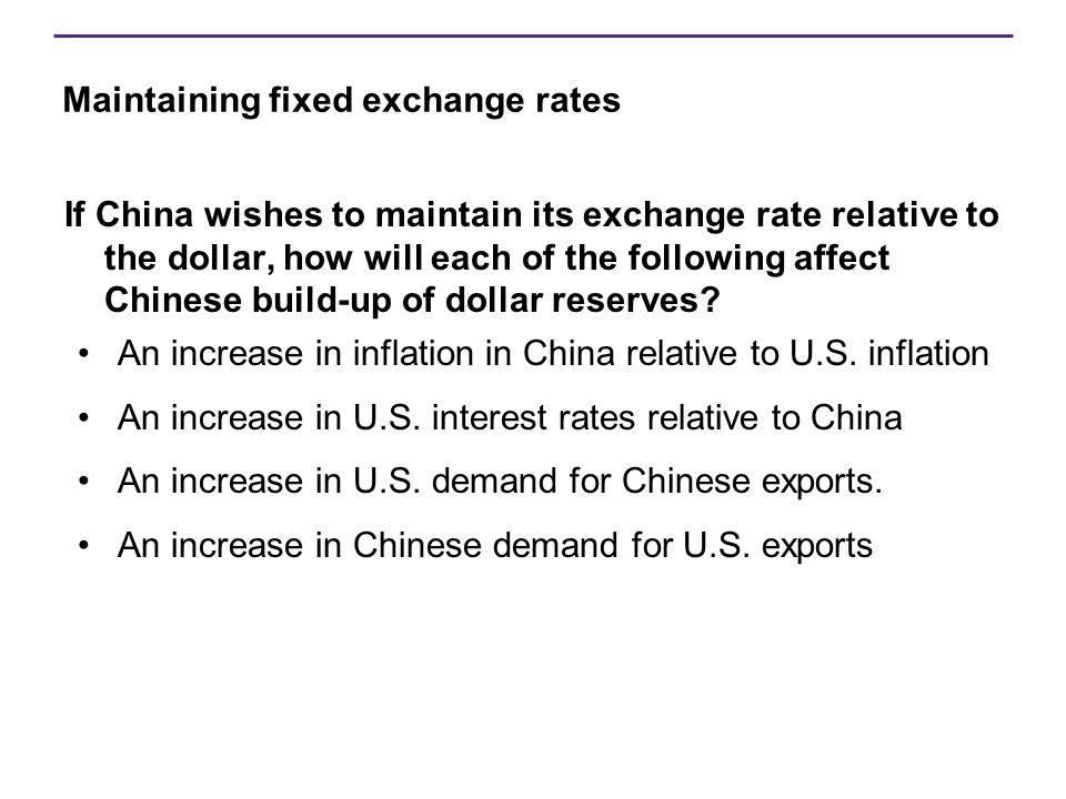 Maintaining fixed exchange rates