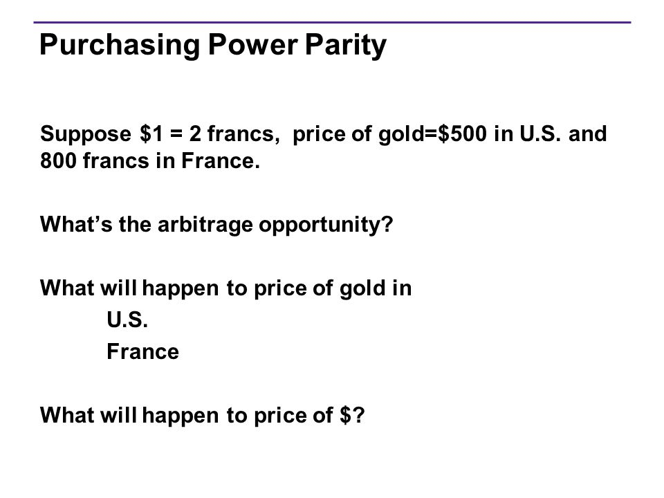 Purchasing Power Parity
