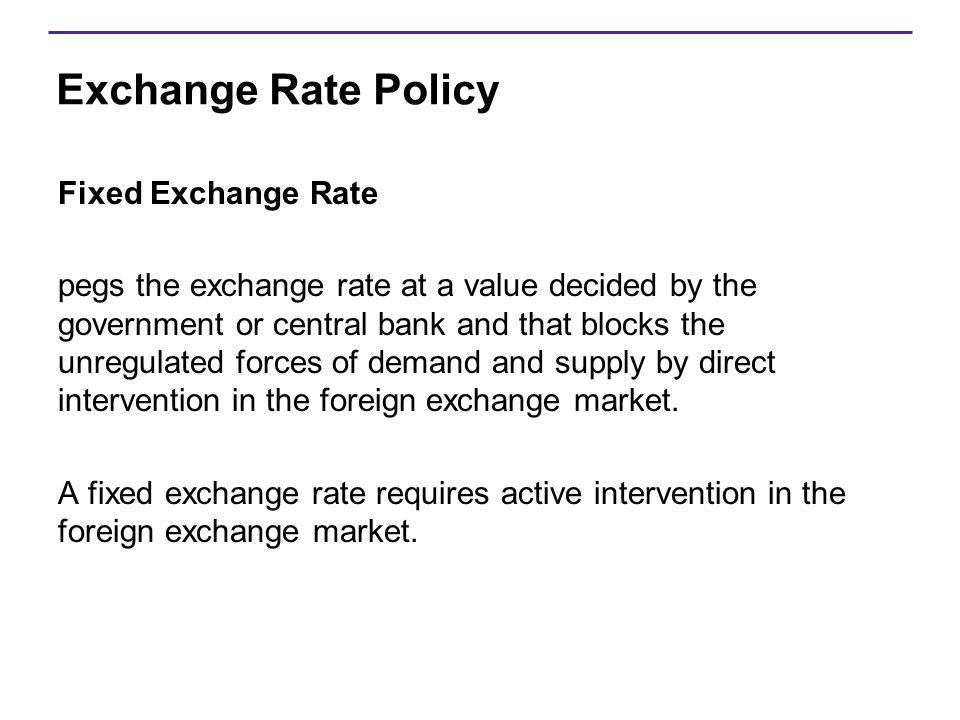 Exchange Rate Policy