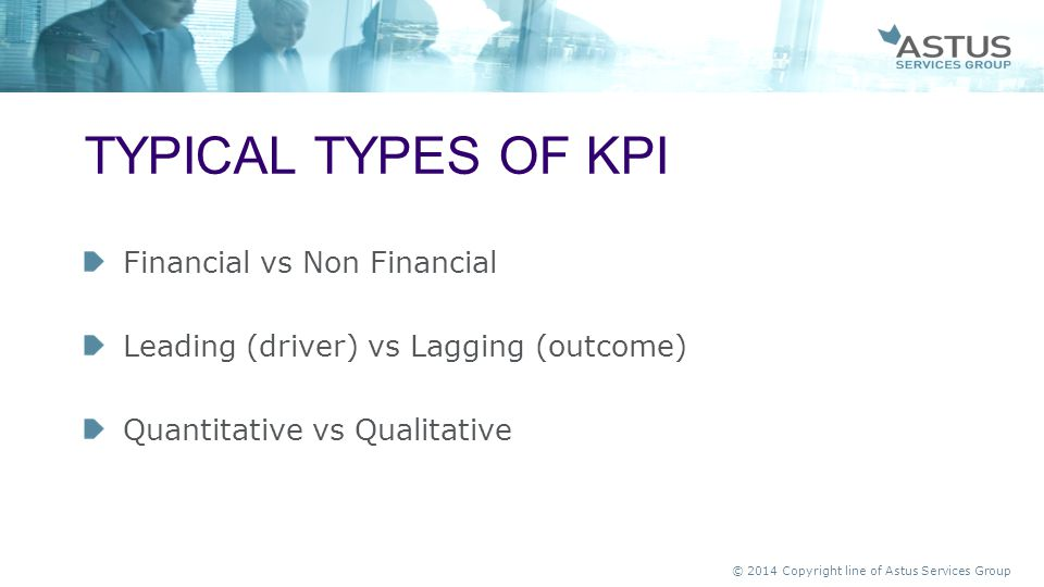 TYPICAL Types of kpi Financial vs Non Financial