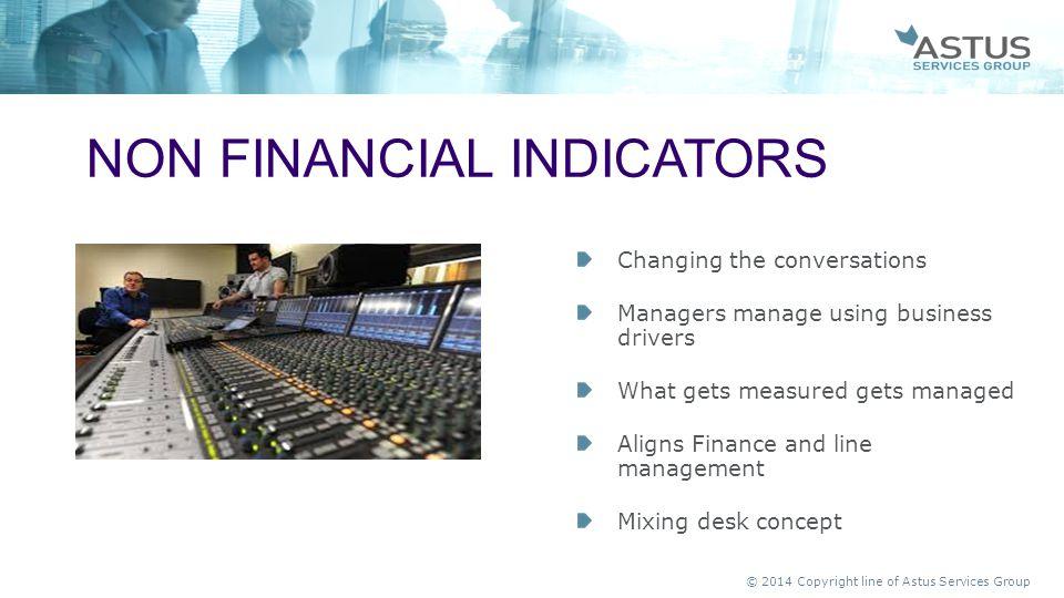 Non financial indicators