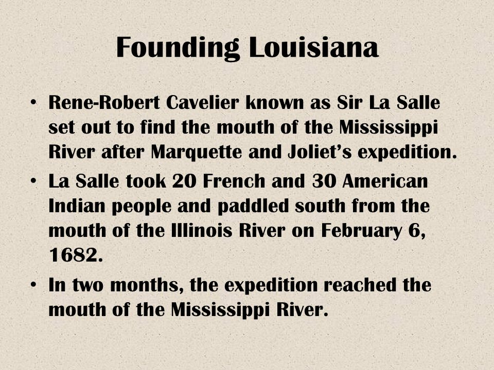 Founding Louisiana