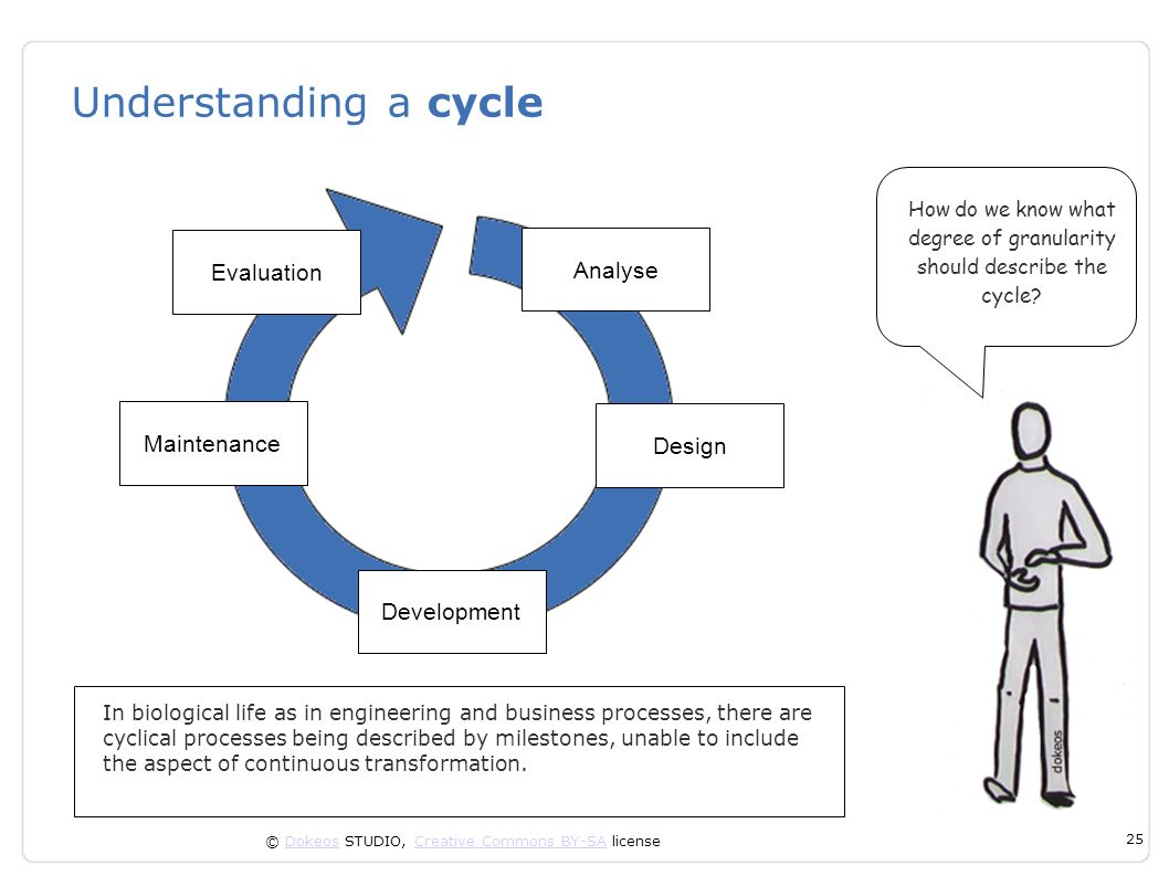 Understanding a cycle Evaluation Analyse Maintenance Design
