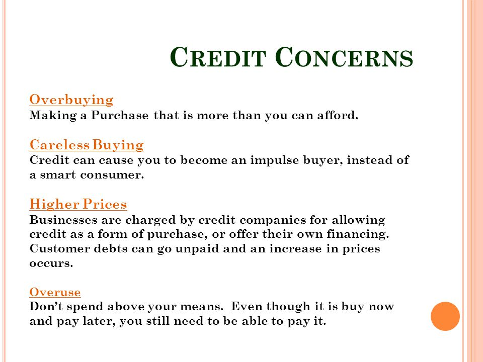 Credit Concerns Overbuying Careless Buying Higher Prices