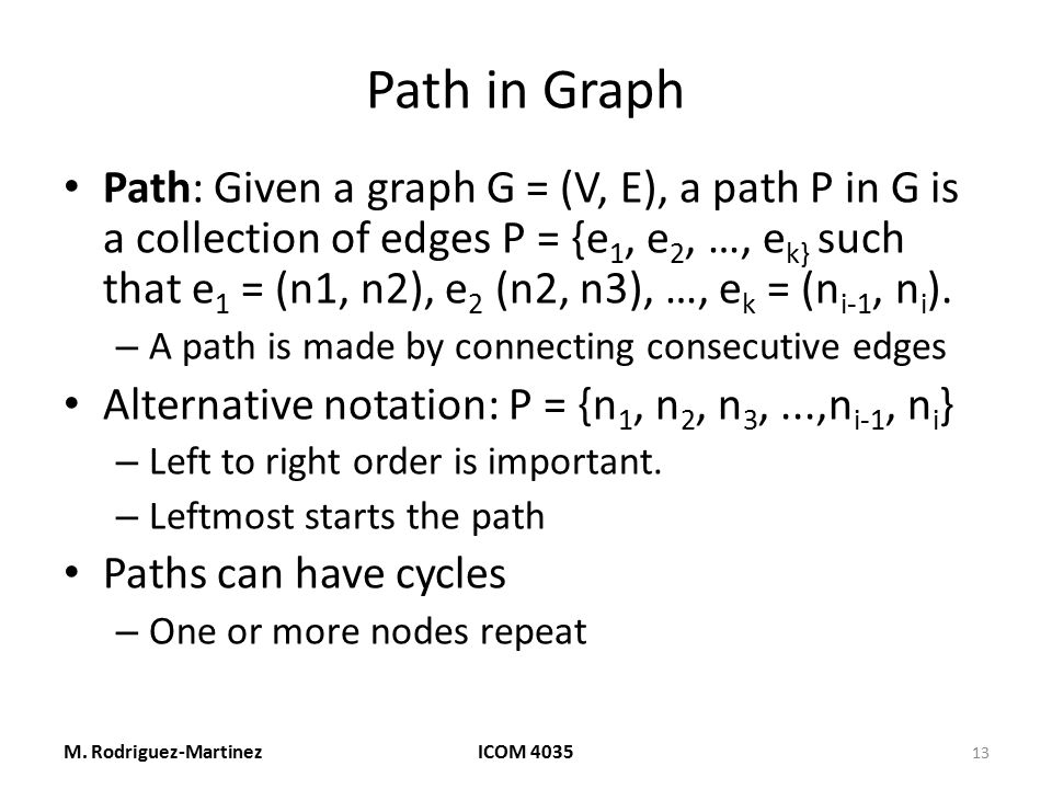 Path in Graph