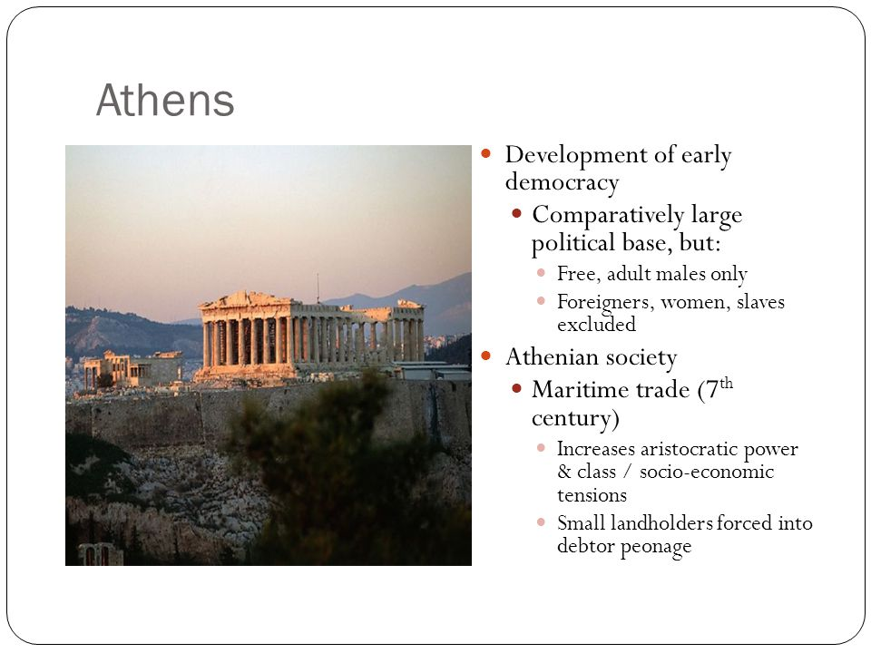Athens Development of early democracy