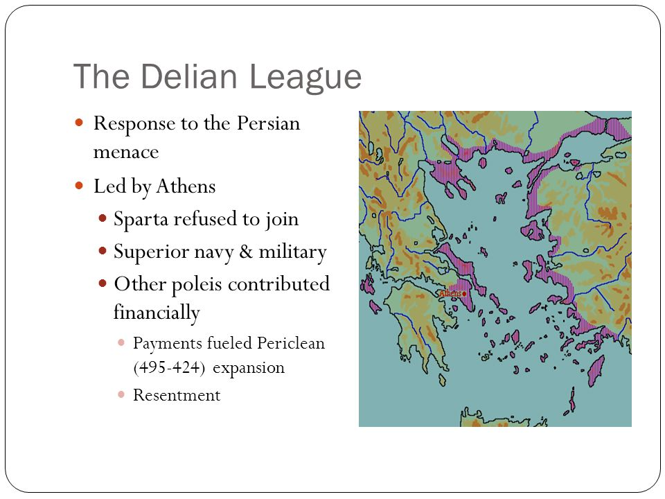 The Delian League Response to the Persian menace Led by Athens