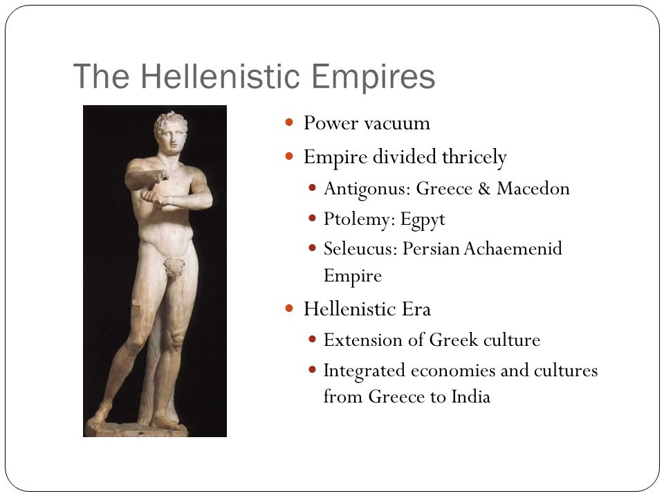 The Hellenistic Empires