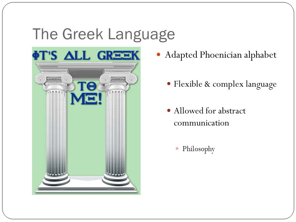 The Greek Language Adapted Phoenician alphabet