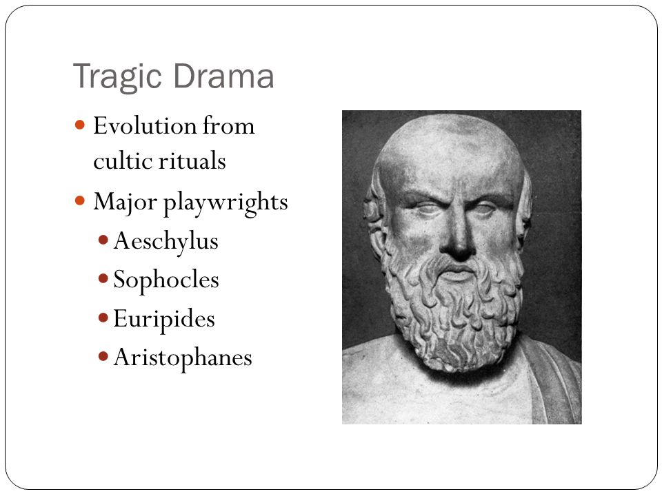 greek dramatists aeschylus sophocles euripides aristophanes Sophocles was destined to become one of the great playwrights of his era since he was the son of a prosperous merchant, he would enjoy all the luxuries of a flourishing greek empire he studied all of the arts.