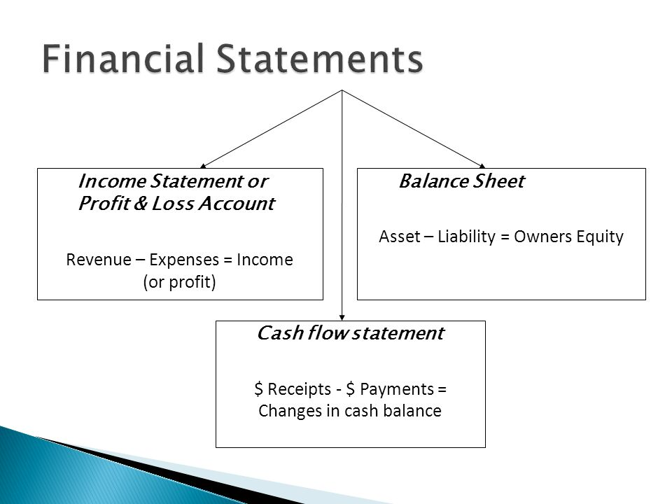 Financial Statements Income Statement or Profit & Loss Account