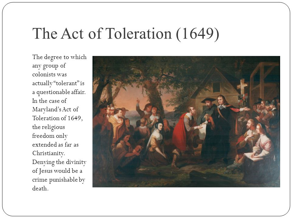 The Act of Toleration (1649)