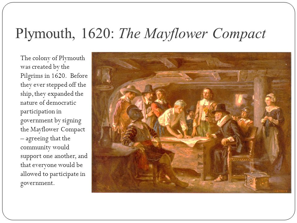 Plymouth, 1620: The Mayflower Compact